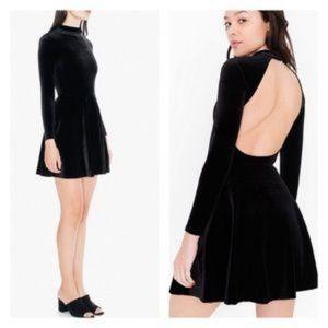 American Apparel | Violette Velvet Cutout Dress